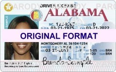 Alabama fake id card, driver license, scannable alabama fake id cards