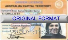 AUSTRALIAN CAPITAL Fake ID