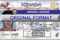 Nevada Fake ID Template Small