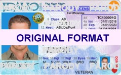 IDAHO  DRIVER LICENSE IDAHO FAKE ID CARD SCANNABLE IDAHO FAKE ID