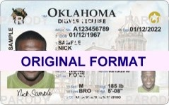fake id oklahoma for sale with hologram scannable