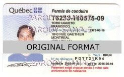 Quebec Driver License scannable fake id fake identity fake driver license id quebec canada