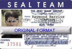 SEAL TEAM DRIVER LICENSE ORIGINAL FORMAT, DESIGN SPECIFICATIONS, NOVELTY SECURITY CARD PROFILES, IDENTITY, NEW SOFTWARE ID SOFTWARE